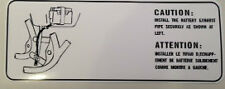 SUZUKI SP370 SP400 BATTERY CAUTION WARNING DECAL LABEL