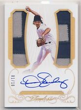 DENNIS ECKERSLEY 2016 Panini Flawless Greats DUAL JERSEY PATCH AUTO 1/10 A'S HOF
