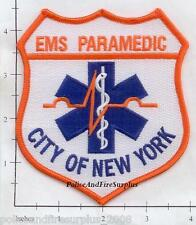 New York - NY City EMS Shoulder Fire Dept Patch NYC Old Style v14 Paramedic