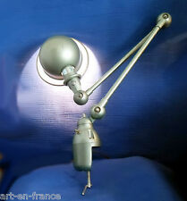 JIELDE FRENCH INDUSTRIAL LIGHT GREEN METALIZED 100% ORIGINAL 2 ARMS FIXING CLAMP