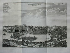 Original antique print PALEMBANG, SUMATRA, INDONESIA, Nieuhof, Churchill 1744
