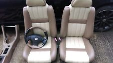 MGF /for  MGTF / MG TF MK2 Tan & Cream full  Leather seats and steering wheel