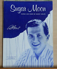 Sugar Moon -1958 sheet music by Danny Wolfe - Pat Boone photo cover