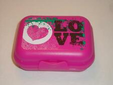 Tupperware Oyster Packables Storage Container Hinged Love Heart Logo Pink New