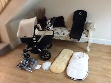 BUGABOO CAMELEON 3 , 2015,,BLACK & OFF WHITE, LOTS ACCESSORIES