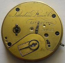 Litherland Davies Fusee Movement Good Balance 1816-1877 Maquina Fusee 40.5 mm