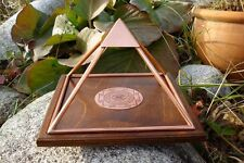 MEDIUM Copper Orgone Pyramid Healing Reiki Meditate Crystals Prosperity Energy