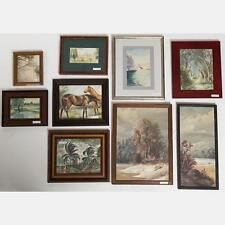 A Miscellaneous Collection of Framed Watercolor and Oil Paintings by ... Lot 433