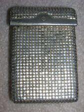 "VINTAGE Silvertone Metal Mesh Cigarette Case ""G"" marking - used"