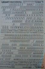 LETRASET strofinare sui trasferimenti universtiy Roman corsivo 36pt (9.4 mm) #Il 4833 USATO