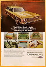 Vintage Magazine Print Ad 1973 Ford Country Squire Wagon