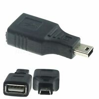 AF to 5P Male USB 2.0 A Female to Mini USB B 5 Pin Male Adapter Converter NEW