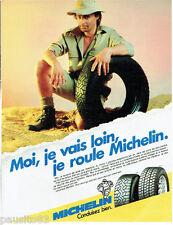 PUBLICITE ADVERTISING 115  1989  les pneus Michelin Mxl Mxv