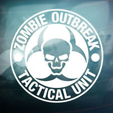 Zombie Outbreak Tactical Unit Funny Car Window Truck Wall Vinyl Decal Sticker