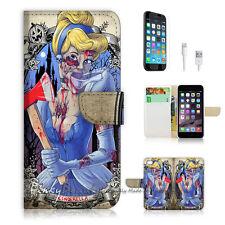 iPhone 6 6S Plus (5.5') Flip Wallet Case Cover! P1466 Zombie Cinderella