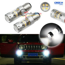 (2) White 21-CREE 140W LED Daytime Running Light Bulbs For 2015-up Jeep Renegade