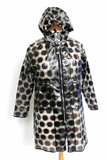 MARNI Black Brown Polka Dot PVC Rain Coat Y 10 UK 6