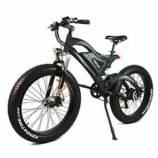 "Heyman Black Mountain Bike 26"" Electric Bicycle Fat Tire 500W 48V Rear Hub Motor"