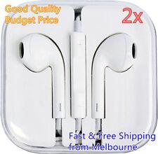 2x EarPods Earphones Earbuds Headphones for Apple Phone 4 5 S 6 Plus iPad iPod