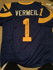 Dick Vermeil Signed Custom St Louis Rams Throwback Jersey Autographed