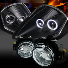 00-05 Mitsubishi Eclipse Black Dual Halo Projector Headlights+Clear Fog Lights