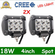 2x 4in 18W CREE LED LIGHT BAR WORK SPOT LAMP OFFROAD BOAT UTE CAR TRUCK SUV ATV