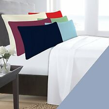 SINGLE BED LIGHT BLUE BASE VALANCE SHEET POLYCOTTON 180 THREAD COUNT PERCALE