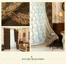 Luxury Jacquard Chenille curtain Valance drapes for large living room customize