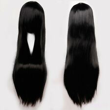 Wig Long Curly Straight Full Head Wigs Cosplay Party Fancy Halloween Dress #2Y