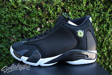 NIKE AIR JORDAN 14 XIV RETRO SZ 10.5 INDIGLO BLACK WHITE GREEN 487471 005