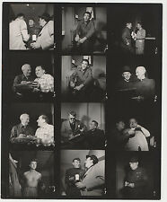 Orig Gregory Peck Vintage Photo Contact Sheet Photographer Credit on back 1950's