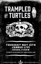 TRAMPLED BY TURTLES / THE DEVIL MAKES THREE 2016 TAMPA CONCERT TOUR POSTER