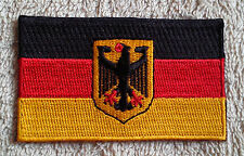 GERMANY FLAG PATCH Embroidered Badge 4.5cm x 6cm Deutschland Bundesdienstflagge