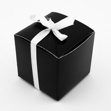 "48pk Black 2"" x 2"" Wedding Gift Box Favor Candy Bridal Shower Favour Present"