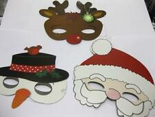 12 x CHRISTMAS MASKS SANTA SNOWMAN REINDEER PARTY BAG PANTO WHOLESALE JOB LOTS