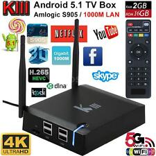 KIII Android 5.1 Amlogic S905 3D 4K TV BOX 2G/16G WIFI 1000M Streaming