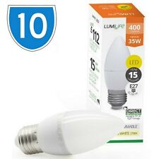 10x Branded 5w = 30w E27 LED Edison Screw Candle Bulb Cool Daylight White 5000k