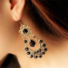 Retro Women Flower Chandelier Drop Dangle Chandelier Hook Earrings