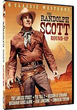 The Randolph Scott Roundup, 6 Classic Westerns, DVD, Factory Sealed, New