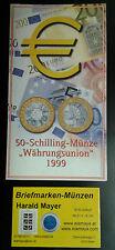 Österreich 50 Schilling 1999 Bimetall Währungsunion Blister Hgh-- Eiamaya