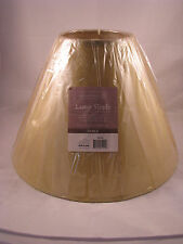 HOMETRENDS 12 INCH BELL TABLE LAMP SHADE GREENISH GOLD