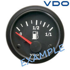 "VDO Viewline Fuel Level Marine Gauge Boat 52mm 2"" 12V Black A2C59510387"