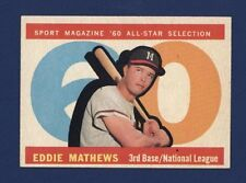 1960 TOPPS Eddie Mathews *All-Star* #558 EX+ Milwaukee Braves!!