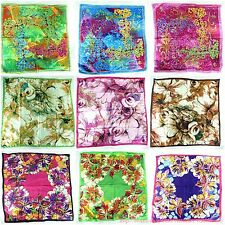 """lot of 12 large satin square scarf 39""""  wholesale shawl wrap cherry blossom"""
