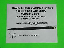 800 MHZ SCANNER RADIO ANTENNA FOR RADIO SHACK DIGITAL ANALOG SCANNER RADIOS BNC