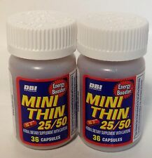 2  BOTT OF MINI THINS 25/50 ENERGY BOOSTER   72 CAPSULES