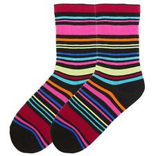 K Bell COLORFUL STRIPES Ladies SOCKS H066-01 BLACK FREE US SHIPPING