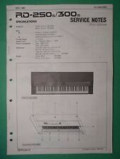 Original ROLAND Service Notes- RD-250s/300s Digital Piano