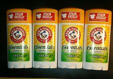 Lot of 4 Arm and Hammer Essentials Deodorants
