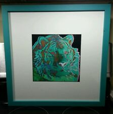 Andy Warhol Tiger III, Lithography,  Professionally Framed/Museum Glassed & COA